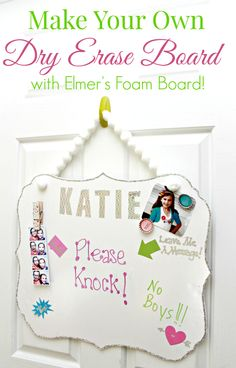 Make Your Own DIY Dry Erase Board with Elmers Foam Board