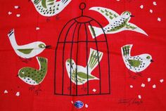 Vintage MidCentury Kitchen Towel Tammis Keefe by in2vintagecloths