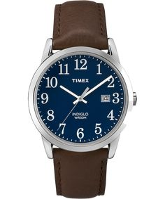 Easy Reader Signature Date 38mm Leather Watch - Timex US