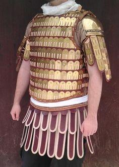 Byzantine klibanion.  Typical Lamellar armor of medieval Roman armies.