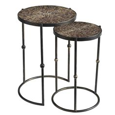 Mosaic Gold Nesting Tables | Pier 1 Imports