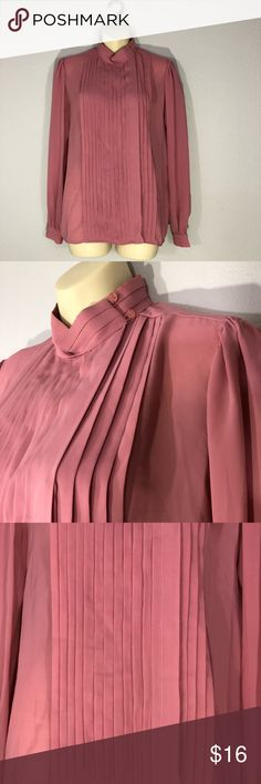 1970s pleated blouse Label: Astor One 100% polyester  Made in Taiwan Vintage Tops