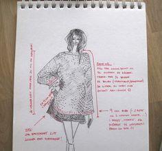Mammas hjemmestrikkede genser - free pattern written in norwegian Jumper Knitting Pattern, Knitting Patterns Free, Knit Patterns, Free Knitting, Free Pattern, Sewing Patterns, Sweater Patterns, Knitting Machine, Big Knits
