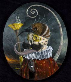 Creepy Oil Paintings by Jonathan Bergeron   Cuded