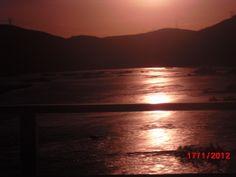 Por do sol no Rio São Francisco - Sergipe - Brasil