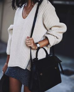 Sweater+ skirt combo