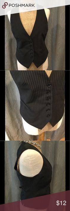H&M pinstripe vest fitted button black vintage Like new condition. Adjustable back. H&M Jackets & Coats Vests