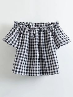 Vadim women sexy off shoulder plaid shirts slash neck short sleeve checked blouse European style summer casual tops Summer Outfits, Cute Outfits, Shoulder Shirts, Affordable Clothes, European Fashion, European Style, Passion For Fashion, Fashion Outfits, Clothes For Women