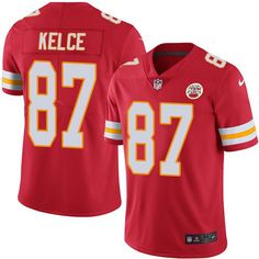 ... Nike Chiefs 87 Travis Kelce Red Team Color Mens Stitched NFL Vapor  Untouchable Limited Jersey ... be2ff962c