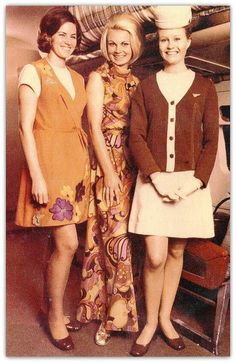 Ansett 1970's Australian Airlines, Trolley Dolly, Air New Zealand, 60s And 70s Fashion, United Airlines, Cabin Crew, Flight Attendant, Aviation, Flaxseed