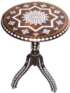 Osmanlı El Sanatları, Sedefli Sehpalar, Sedef İşlemeli Fiskos Sehpalar, Sedef…