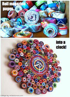 Eye-popping magazine clock!