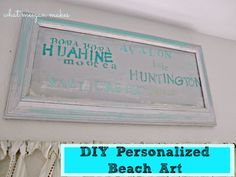 DIY Personalized Beach Art