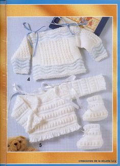 "Photo from album ""Muestras y Motivos on Yandex. Baby Pullover, Baby Cardigan, Baby Jessica, Baby Barn, Crochet Baby Clothes, Little Girl Outfits, Baby Socks, Baby Sweaters, Baby Wearing"