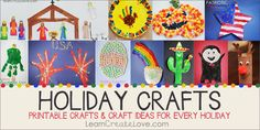 Fun holiday crafts! From LearnCreateLove.com
