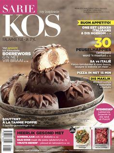 Italiaanse kos in Suid-Afrikaanse styl. Dít is wat jy kan verwag in die nuwe uitgawe van SARIE KOS (Februarie / Maart 2014 vanaf 29 Januarie op die rakke). South African Recipes, Kos, Italian Recipes, Cooking Recipes, Afrikaans, Tarts, Pantry, Cake, Products