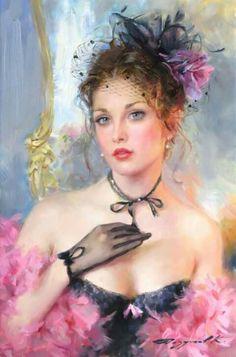 "Art - ""The Pink Boa"" by Russian artist Konstantin Razumov"
