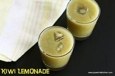 Kiwi ginger lemonade - http://www.jeyashriskitchen.com/2015/03/beetroot-juice-recipe-easy-summer-drinks.html