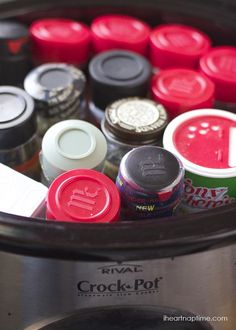 Moving Hacks; fill large pots and pans with small herbs and spices jars.