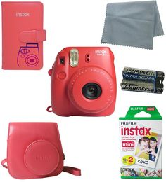 Fujifilm Instax Mini 8 Instant Film Camera (Raspberry) 5 PC Deluxe Bundle Accessory Kit ** Be sure to check out this awesome product. (This is an Amazon Affiliate link and I receive a commission for the sales)