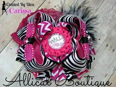 Wild child hair bow!!! https://www.facebook.com/bowmakindiva/photos/a.875801882459056.1073741881.664051576967422/875808229125088/?type=3&theater