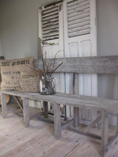 1000 images about louvre luiken on pinterest old shutters shutters and brocante - Deco eetkamer oud ...