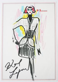 Image result for karl lagerfeld sketches