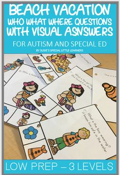 Autism Teaching Strategies, Co Teaching, Teaching Special Education, Spring Activities, Activities For Kids, Reading Activities, School Resources, Learning Resources, Summer Beach