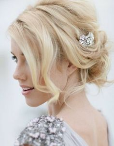 I like this loose updo with a small embellishment :)