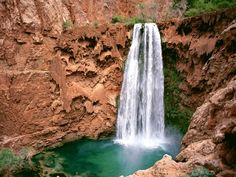 Havasupai Mooni Falls, Grand Canyon, Arizona