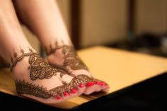 As little girls, we spend hours hoping mummy would allow nail-polish on our toes and mehendi on our feet….  As young girls, we spend hours decorating our toes with funky colors and crazy tattoos…  As brides-to-be…. the intricate mehendi and the nail-polish… symbolize a transition…  that, from a girl to woman!!