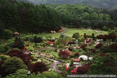 The Garden of Morning Calm (아침고요수목원)  The garden features more than 20 themes and 5,000 different kinds of plants. (http://travel.cnn.com/seoul/visit/50-beautiful-places-visit-korea-873093)