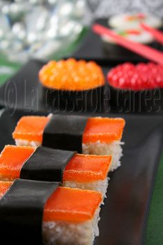 Candy Sushi, used jelly beans for roe!