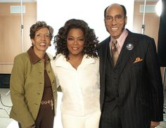Barbara and Earl Graves join Oprah Winfrey during her photo session for the cover of the June 2008 issue of Black Enterprise, in which Winfrey's Harpo Inc. was named BE 100s Industrial Service Company of the Year.