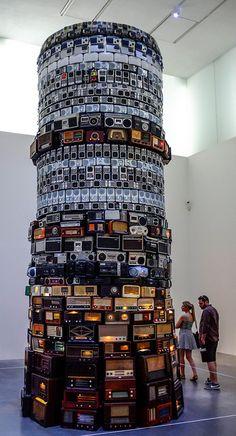 'Babel' Radio Tower at Tate Modern London by Brazilian artist Cildo Meireles,