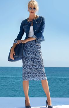 Great jean jacket | MADELEINE SKIRT