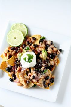 Yellow-Eyed Bean Nachos