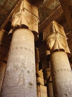 Lovely Hathor-collums in Dendera