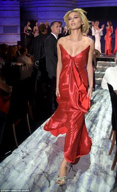 Lady in red!Hailey Baldwin proved herself to be the queen of the catwalk  at the 2017 amfAR Gala fashion show at Hotel du Cap-Eden-Roc in Antibes, France, on Thursday night