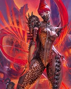 As the SS-class qigong master of the Red Snake Hall, the Red Wolf has 30 internal force silences in front and + super power to reduce vertigo resistance. Fantasy Art Women, Dark Fantasy Art, Fantasy Girl, Fantasy Artwork, Fantasy Character Design, Character Art, Akali League Of Legends, Mädchen In Bikinis, Cyberpunk Art
