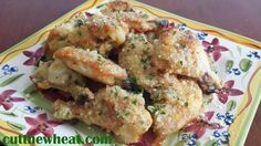 Garlic Parmesan Wings Shared on https://www.facebook.com/LowCarbZen | #LowCarb #Wings #Appetizers