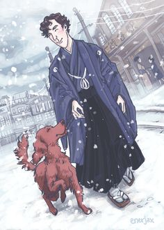 I'll always remember our walks    For the LetsDrawSherlock Historical Moments challenge I wanted to draw Sherlock and Redbeard from th...