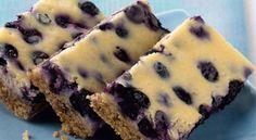 Lemony Blueberry Cheesecake Bars Diabetic Dessert Recipe