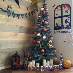 ペーパークラフト/ハンドメイド/DIY/リビング/3Coins/ガーランド RoomClip(ルームクリップ)halloween tree ハロウィンツリー ハロウィン