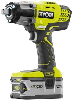 Ryobi ONE 18 Volt inch Cordless 3 Speed Impact Wrench Power Tool Ryobi Power Tools, Ryobi Tools, Cordless Power Tools, Power Motors, Wrench Tool, Decoration Originale, Tools And Equipment, Working Area, Wood