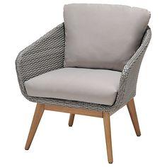 Buy John Lewis Bergen Lounging Armchair, FSC-Certified (Eucalyptus), Grey Online at johnlewis.com