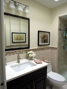 new bathroom, light airy, functional and classic