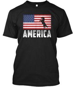America Black T-Shirt Front Usa Shirt, Super Dad, Usa Flag, America, Hoodies, Mens Tops, Shirts, Black, Sweatshirts