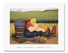 "The Artwork of Lowell Herrero  ""Summer Picnic"""