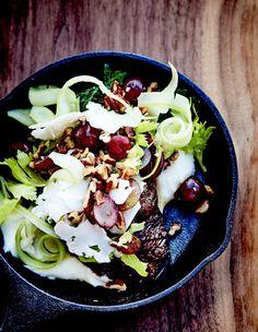 Joues de bœuf braisées, purée de chou-fleur et salade de céleri pour 6 personnes - Recettes Elle à Table